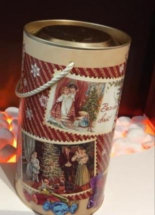 Упаковка, коробка для угощений к рождеству и новому году