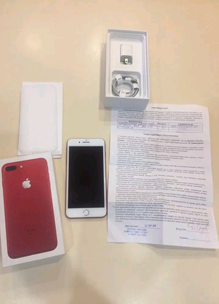 Продам Iphone 7 plus Red 128 gb
