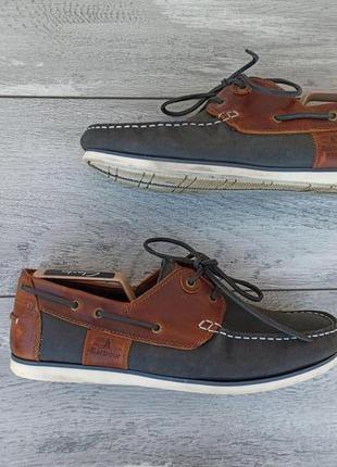 Barbour мужские кожаные туфли топ сайдеры оригинал англия