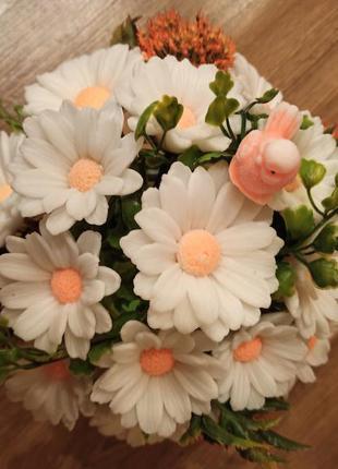 Букет ромашек из мыла букет цветов