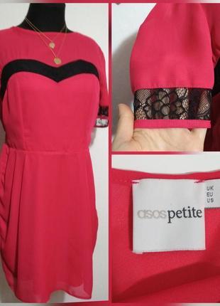 ..фирменное, шифоновое платье с кружевными вставками, на любой...