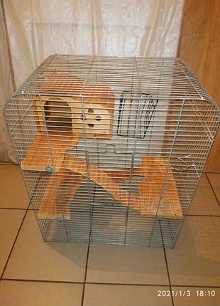 Большая клетка для шиншилл, кроликов, крыс.