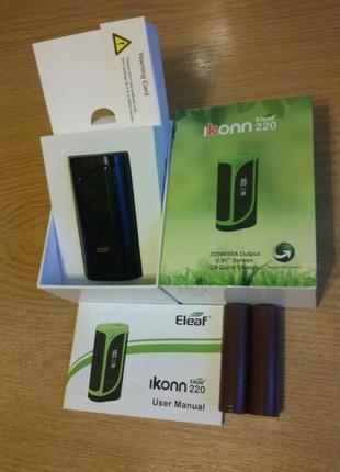 Бокс мод Eleaf iKonn 220W 220В vape вейп з 2 акумуляторами LG HG2