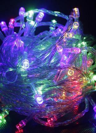 Гирлянда новогодняя разноцветная на елку ёлку светодиодная дли...