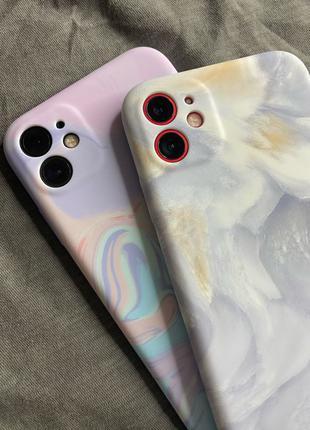 Мраморный чехол на iPhone 11,XR