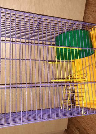 Продам б/у клітку для папуги і різних гризунів