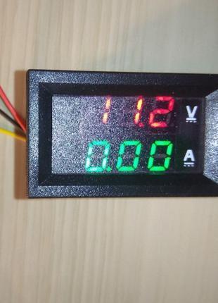 Вольтметр амперметр DC 0...100В/10A