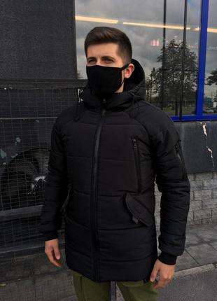 Крутая мужская зимняя куртка на силиконе