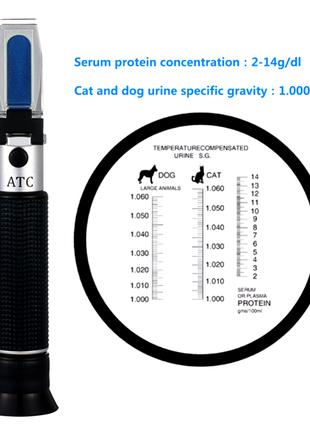 Рефрактометр ветеринарный для плотности и белка в моче животных