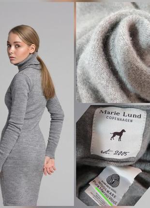 Фирменное супер теплое шерстяное платье миди водолазка, 100% ш...