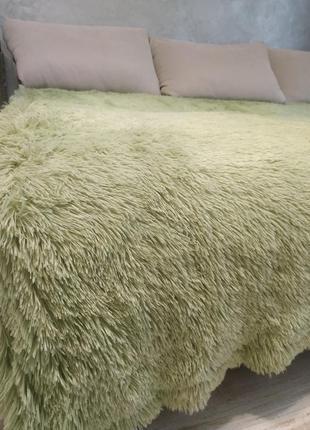 Мягкий плед, покрывало на кровать-сочная травка