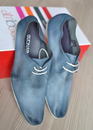 Фирменные кожаные туфли - очень мягкая кожа Gucinari - 42р.