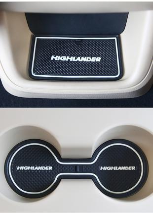 Тойота Хайлендер Toyota Highlander коврики в карманы резиновые