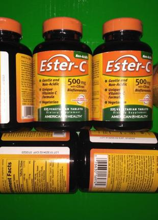 Витамин С Эстер-с Ester-C 500мг 225шт с цитрусовыми биофлавоно...