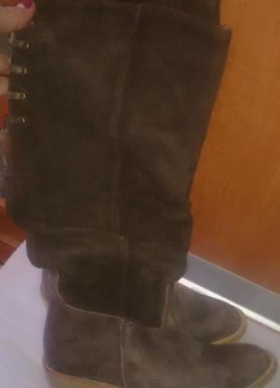 Стильні коричневі чоботи шкіра р36 monshoe