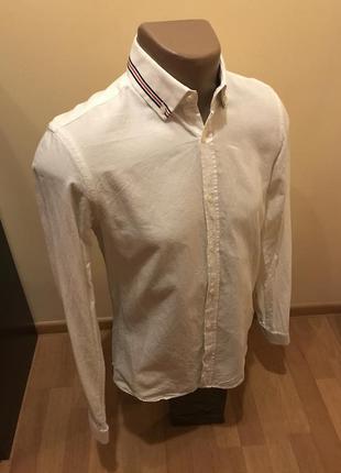 Рубашка белая оригинал zara man
