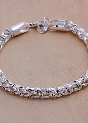 Стильный серебряный браслет s925