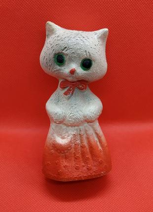 Игрушка резиновая Котик СССР Кот пищалка Кошка котенок  кошеня
