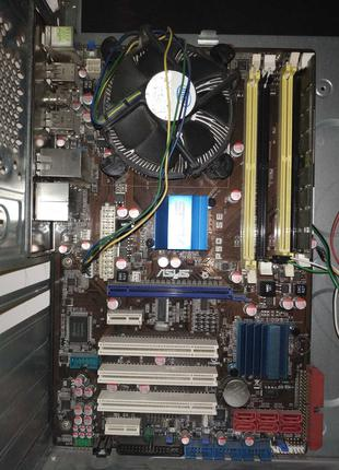 Intel q8200 core 2 quad + Материка: asus p5q se (LGA775)