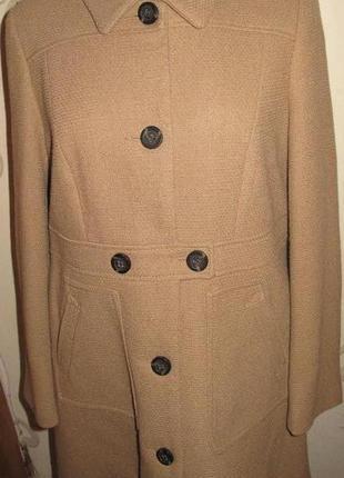 Бежеве стильне пальто р42 next на гудзички