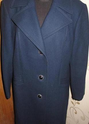 Елегантне синє пальто р44/46 special coat шерсть