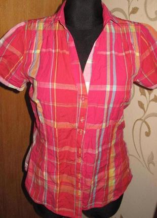 Легка рожева блуза  р42 next нова бірки