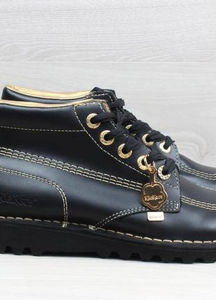 Женские кожаные ботинки kickers, размер 39 (полуботинки)