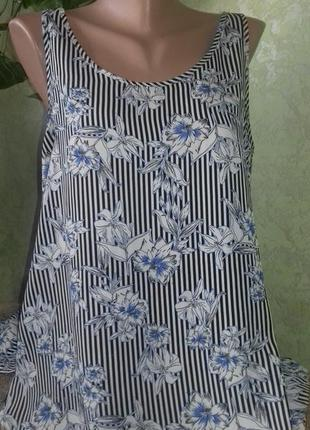 Маечка - блуза из нежного шифона от primark