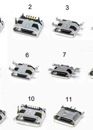 Коннектор Xiaomi Mi2/ Mi2A/ Mi2s/ Mi3, 7 pin, micro-USB тип-B