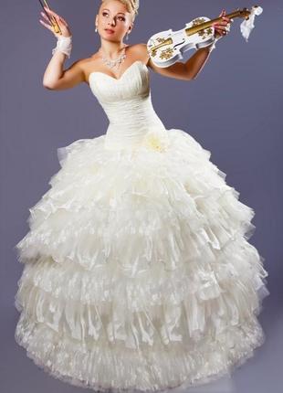 Свадебное платье трансформер шампань