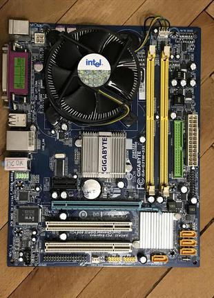 Материнська плата Gigabyte/AsRock +Процессор 4 ядра +кулер