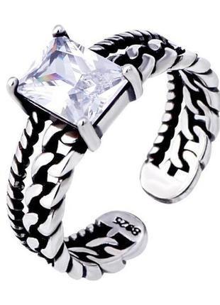 ❄️💓стильное серебряное кольцо с цирконием❄️