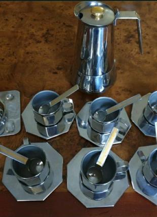 Кофейный набор Цептер с гейзерной кофеваркой