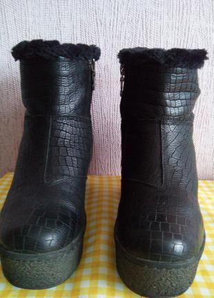 Ботинки женские кожаные зимние.