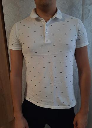 Поло, футболка, тениска, белая футболка, мужское поло