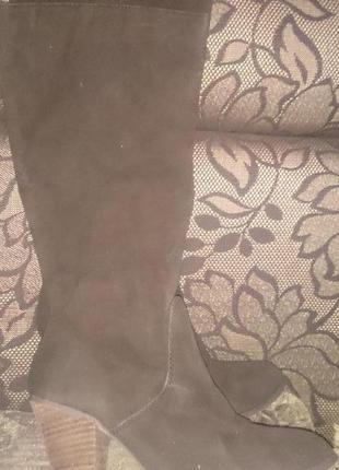 Стильні коричневі чоботи new look р39