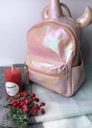 Рюкзак детский розовый единорог