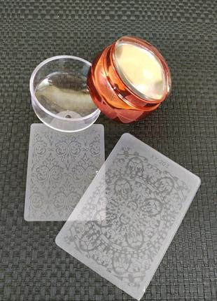 Штамп для стемпинга+шкребок -пластина