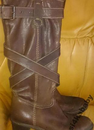 Стильні коричневі чоботи р39