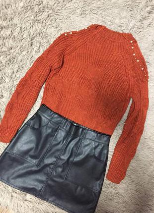 Турецкий свитер с открытыми плечами