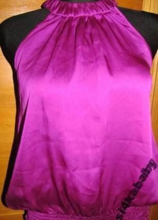 Фіолетовий топ river island р 36 100%поліестр