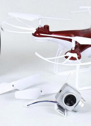 Квадрокоптер радиоуправляемый CX-54 W с камерой, красный