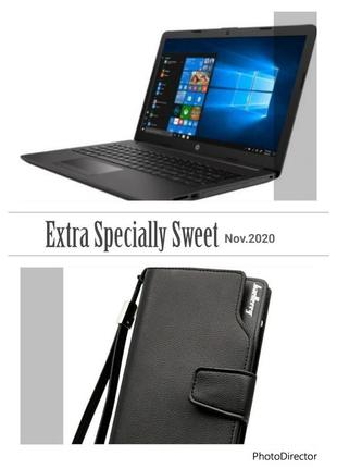 Акція Ноутбук HP 255 G7, портмоне Baellerry в подарок