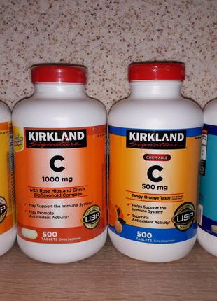 Вітаміни Kirkland.  Омега 3, Вітамін C, D3, Daily Multi