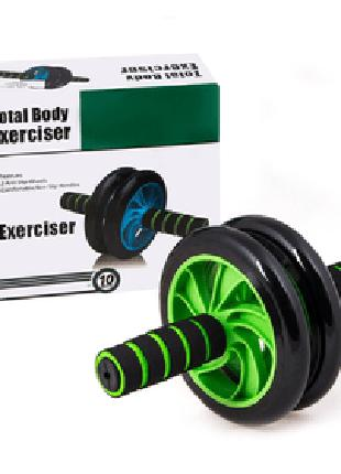 Гимнастическое спортивное фитнес колесо Double wheel Abs health a