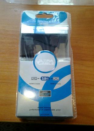 HDMI Кабель Ultra Cable HDMI A plug-HDMI A plug 3м(UC12-20930)