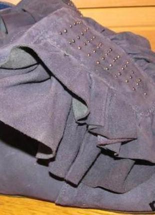 Стильні фіолетові черевички р39 штучний замш