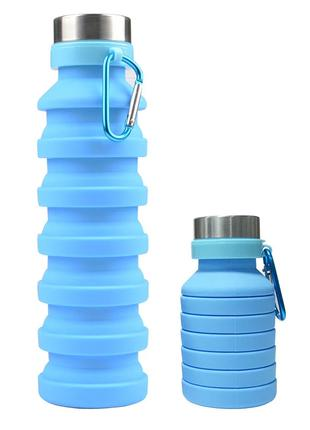 Силиконовая складная бутылка, Спортивная бутылка для воды