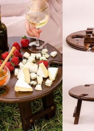 Деревянный столик | Поднос | Винный стол | Менажниця. Столик в...