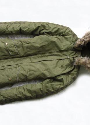 Теплая зимняя спортивная горнолыжная куртка парка с капюшоном ...